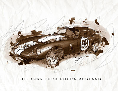 The 1965 Ford Cobra Mustang Art Print by Gary Bodnar