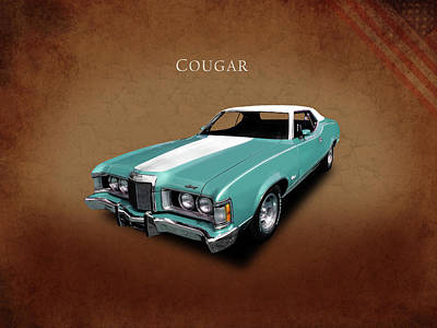 1973 Photograph - The 1973 Cougar by Mark Rogan