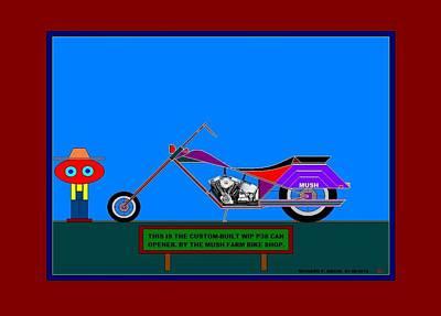 Etc. Painting - The 2016 Custom Mush Farm Bike. by Richard Magin