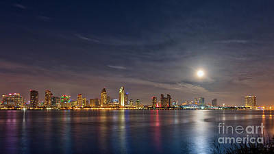 Photograph - The 2018 New Year's Supermoon Over San Diego by David Levin