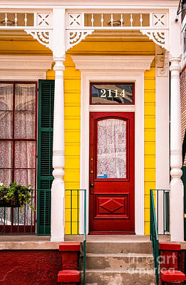 Photograph - The 2114 House-nola-marigny by Kathleen K Parker