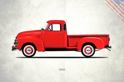 Chevrolet Pickup Photograph - The 3100 Pickup Truck by Mark Rogan