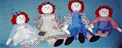 Photograph - The 4 Rag Dolls by Denise Fulmer