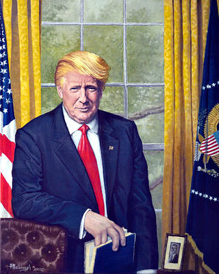 Oval Office Painting - The 45th by Peter E Malbrough