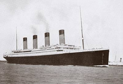 Titanic Drawing - The 46,328 Tons Rms Titanic Of The by Vintage Design Pics