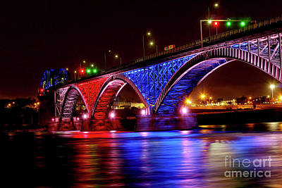 Featured Tapestry Designs - The 4th of July at the Peace Bridge by Linda Joyce