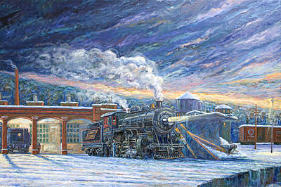 Painting - The 501 In Winter by Gary Symington
