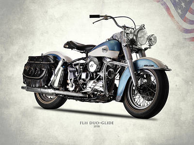 Vintage Harley Davidson Photograph - The 58 Harley Flh by Mark Rogan