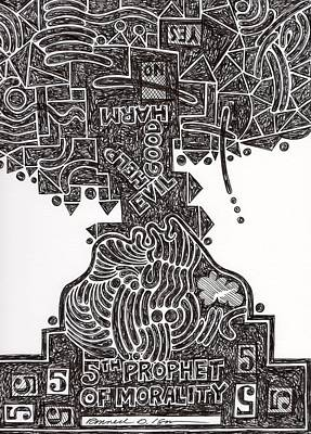 Drawing - The 5th Prophet by Ronald Isom