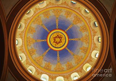 Magen David Photograph - Dome At The Sixth And I Synagogue  by Poet's Eye