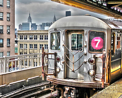7 Train Photograph - The 7 by Nathan  Brend
