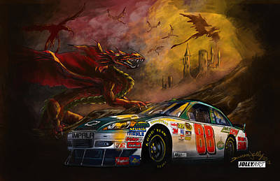 Dale Earnhardt Painting - The 88 by Darren Jolly