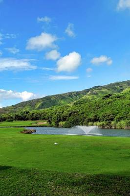 Photograph - The 8th Hole At Kahili Golf Course by Kirsten Giving