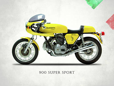 Photograph - The 900 Super Sport 1977 by Mark Rogan