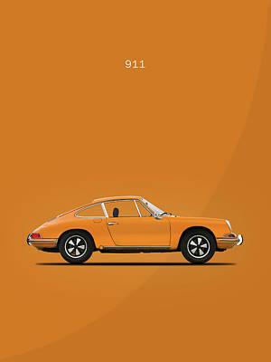 Porsche 911 Photograph - The 911 1968 by Mark Rogan