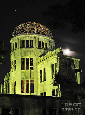 A-bomb Photograph - The A-bomb Dome At Night by Andy Smy