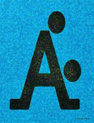 The A With Style Blue - Da Art Print