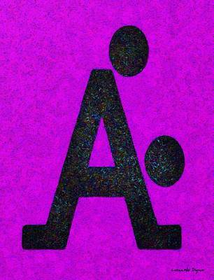 Couple Painting - The A With Style Purple - Pa by Leonardo Digenio