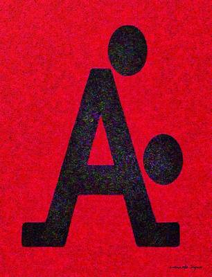 Money Painting - The A With Style Red - Pa by Leonardo Digenio