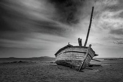 Photograph - The Abandoned Boat by Plamen Petkov