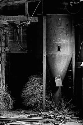 Photograph - The Abandoned Mill Black And White by JC Findley
