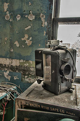Photograph - The Abandoned Projector by Kristia Adams