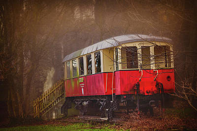 Surrealism Royalty-Free and Rights-Managed Images - The Abandoned Tram in Salzburg Austria  by Carol Japp