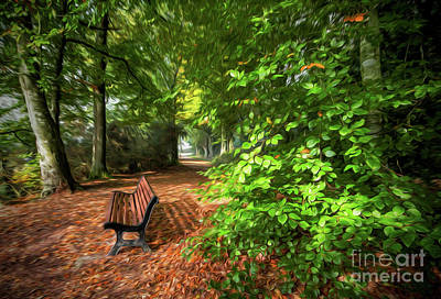 The Abbey's Bench 2 Art Print