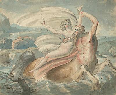 Drawing - The Abduction Of Deianira by Treasury Classics Art