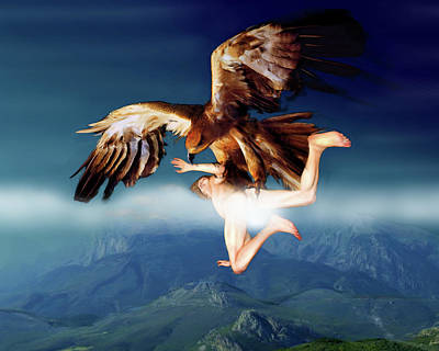 The Abduction Of Ganymedes By The Eagle Art Print