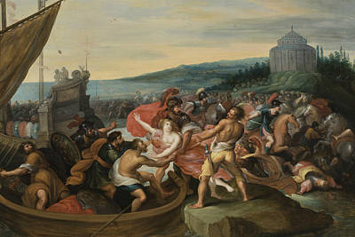 Painting - The Abduction Of Helen by Workshop of Frans Francken the Younger