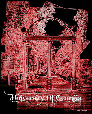 Photograph - The Abstract Arch University Of Georgia U G A Art by Reid Callaway