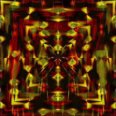Digital Art - The Butterfly - Red And Yellow  by Gillian Owen
