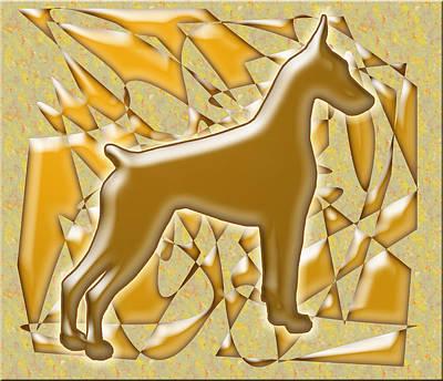 Doberman Pinscher Pop Art Digital Art - Dobermans, Magnificent by Maria C Martinez