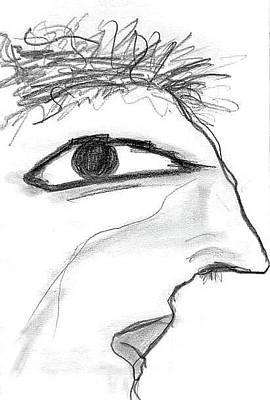 Drawing - The Abstract Thinker  by Matt Harang