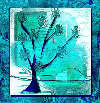 Digital Art - The Abstract Tree by Iris Gelbart