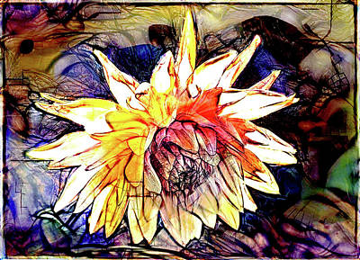 Digital Art - The Abstracted Dahlia  by Steve Taylor
