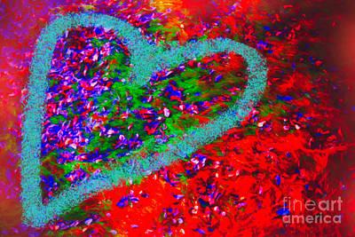 Digital Art - The Abundant Heart by Donna L Munro