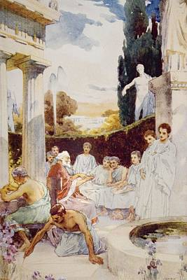 Plato Drawing - The Academy At Athens By James Clark by Vintage Design Pics