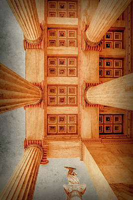 Photograph - Athens, Greece - The Academy Entry Soffit by Mark Forte