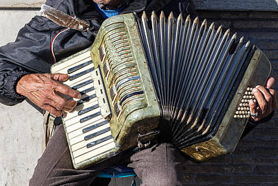 Photograph - The Accordionist by Al Hurley