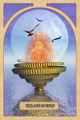 Divination Digital Art - The Ace Of Cups by John Edwards
