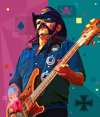 Lemmy Digital Art - The Ace Of Spades by Mal Bray