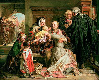 Congratulating Painting - The Acquittal by Abraham Solomon