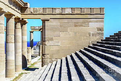 Photograph - The Acropolis Of Lindos, Rhodes, Greece by Global Light Photography - Nicole Leffer