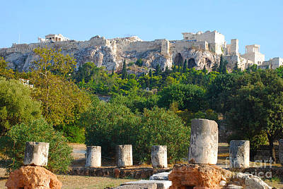 Ruins Photograph - The Acropolis View From Roman Agora by Just Eclectic