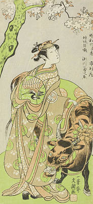 Courtesans Painting - The Actor Segawa Kikunojo II As The Courtesan Maizuru In The Play Furisode Kisaragi Soga by Ippitsusai Buncho