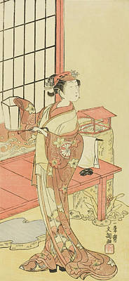 Concubine Painting - The Actor Segawa Kikunojo II, Possibly As Princess Ayaori In The Play Ima O Sakari Suehiro Genji  by Ippitsusai Buncho