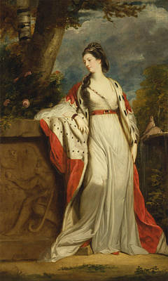 Duchess Painting - The Actress Elizabeth Gunning Later Duchess Of Hamilton And Argyll by MotionAge Designs