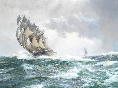 Sphere Painting - The Adelaide by Montague Dawson